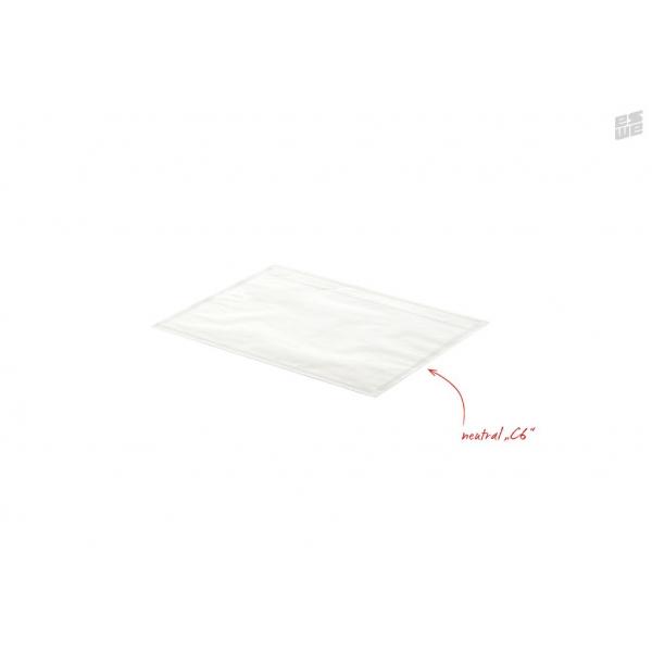 Begleitpapiertaschen, Aufdruck neutral, DIN-Format C6  (UNIPACK Qualität)